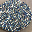 Blueberry Bliss Felt Ball Rug