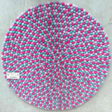 Candy Crush Felt Ball Rug