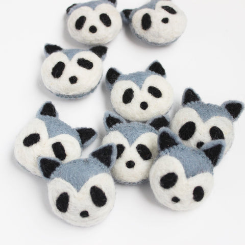 felt animal head raccoon