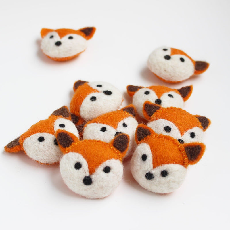 felt animal head fox