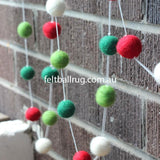 Felt Ball Christmas Garland - Felt Ball Rug Australia - 3