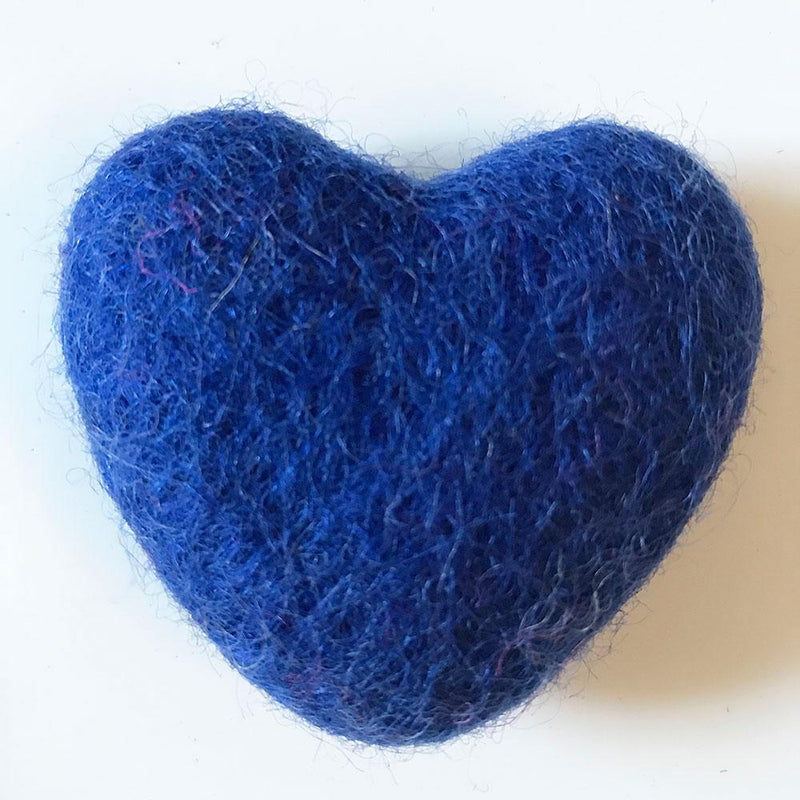 Felt Hearts Royal Blue