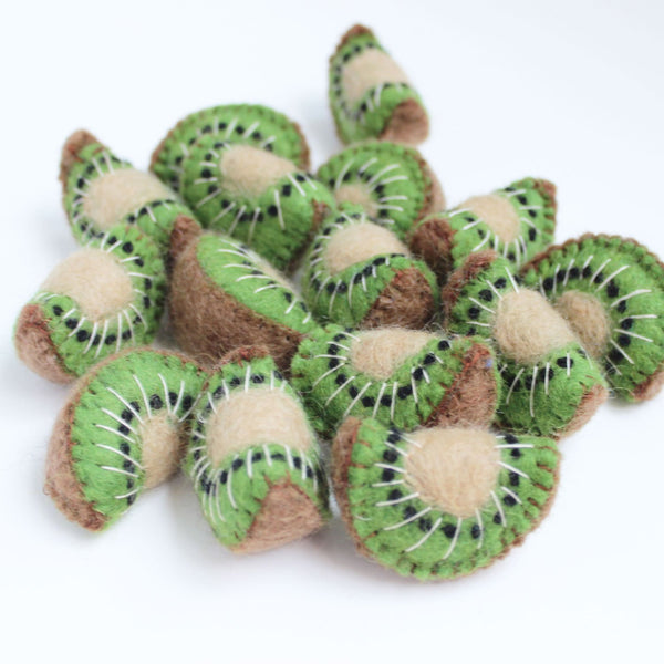 felt kiwi fruit slices