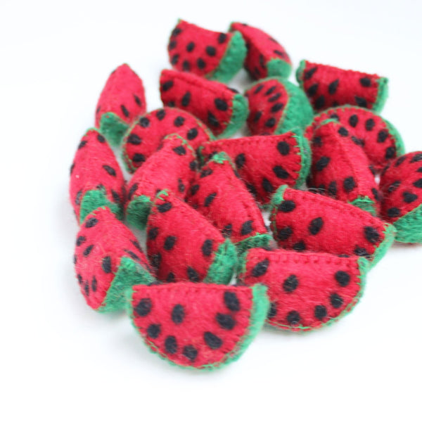 felt watermelon slices