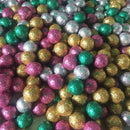 glitter felt balls assorted colours