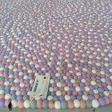 LAVENDER LANE FELT BALL RUG