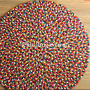 Multi Coloured Felt Ball Rug - Felt Ball Rug Australia - 2