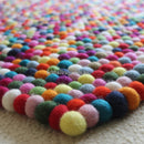 Multicolored Rectangle Felt Ball Rug - Felt Ball Rug USA - 3