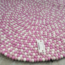 Pink Princess Felt Ball Rug
