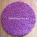 Pancy Purple Felt Ball Rug - Felt Ball Rug Australia - 2
