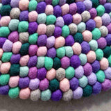 Purple Mint Felt Ball Rug