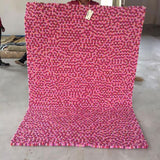 Raspberry Sorbet Rectangle Felt Ball Rug