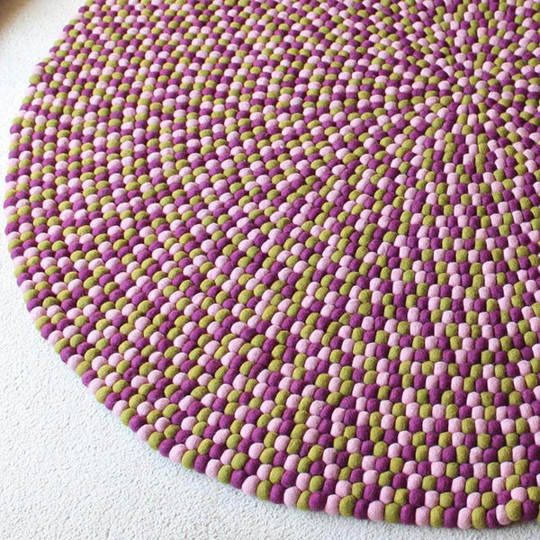 Mulberry Bush Felt Ball Rug