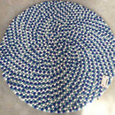Whirlpool Blue Felt Ball Rug