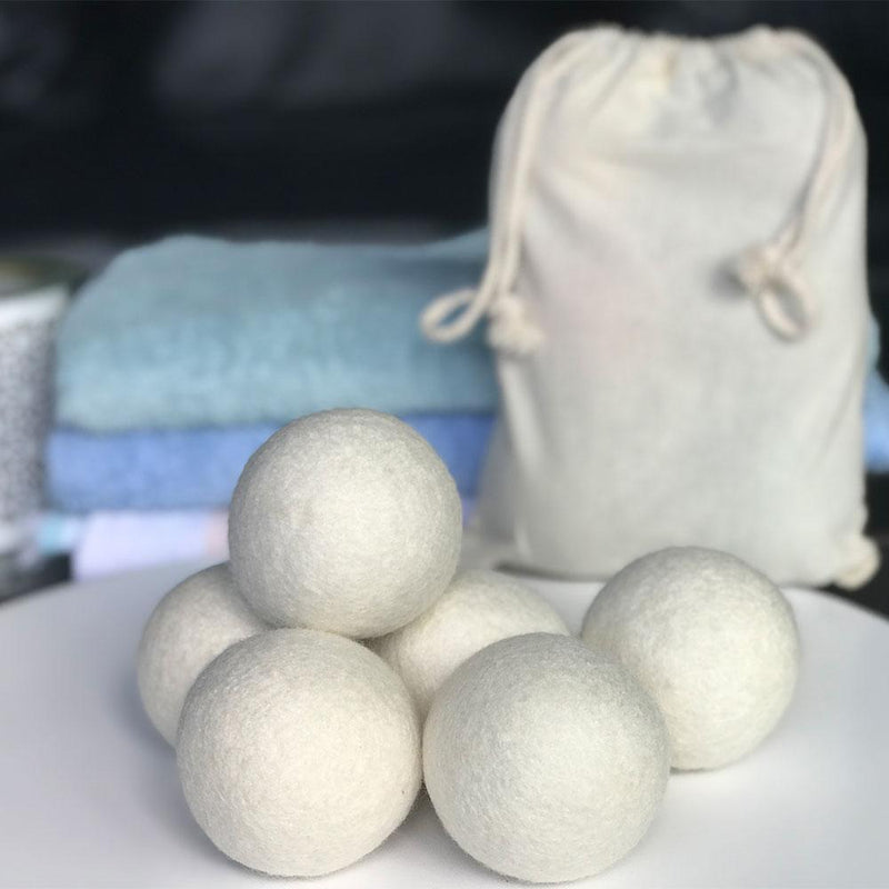 Organic Eco Wool Dryer Balls - 6 Pack