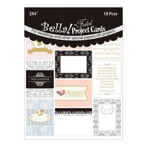 Bella! 3x4 Project Cards Die-Cuts: Wedding