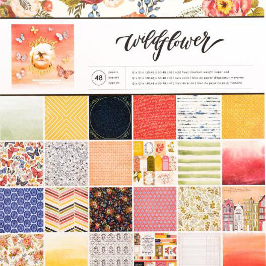 American Crafts 12x12 Designer Paper Pack: Wildflower