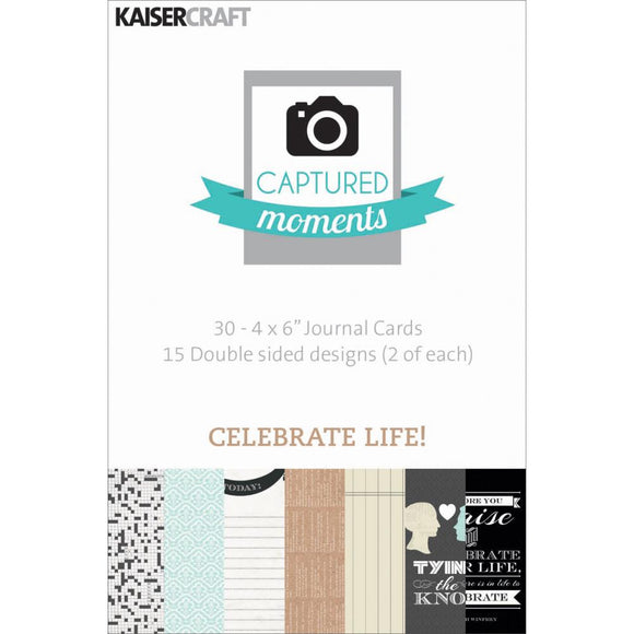Captured Moments Double-Sided 4x6 Cards (30PKG): Celebrate Life