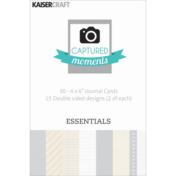 Captured Moments Double-Sided 4x6 Cards (30PKG): Essentials