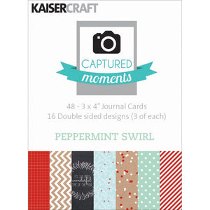 Captured Moments Double-Sided 3x4 Cards (48PKG): Peppermint Swirl