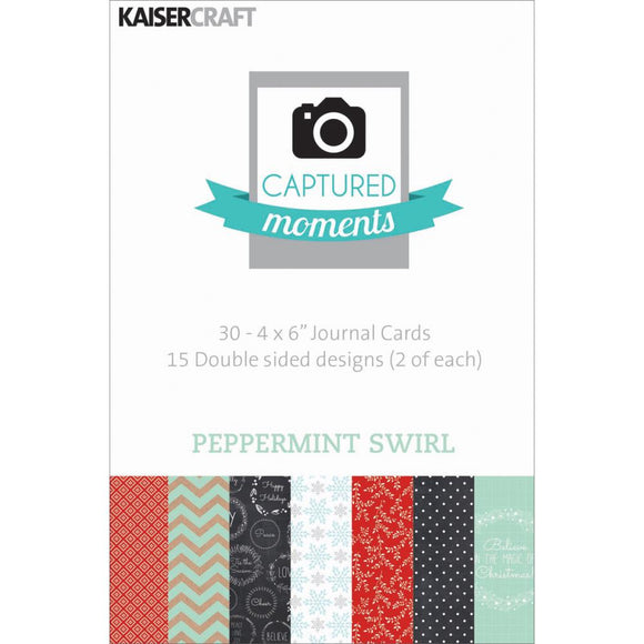 Captured Moments Double-Sided 4x6 Cards (30PKG): Peppermint Swirl