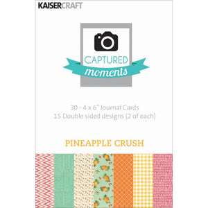 Captured Moments Double-Sided 4x6 Cards (30PKG): Pineapple Crush