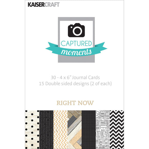 Captured Moments Double-Sided 4x6 Cards (30PKG): Right Now