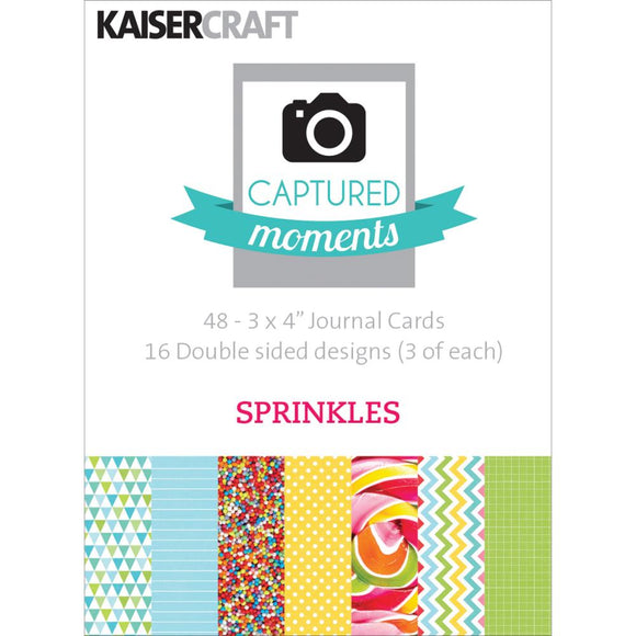 Captured Moments Double-Sided 3x4 Cards (48PKG): Sprinkles