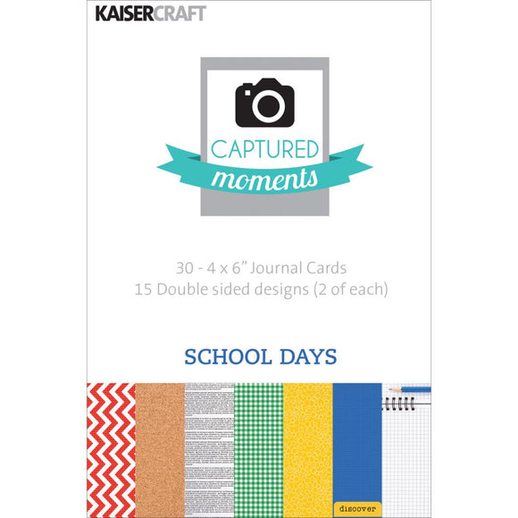 Captured Moments Double-Sided 4x6 Cards (30PKG): School Days