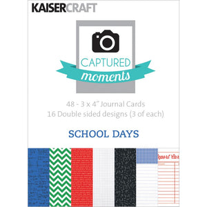 Captured Moments Double-Sided 3x4 Cards (48PKG): School Days