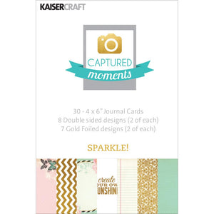 Captured Moments Double-Sided 4x6 Cards (30PKG): Sparkle