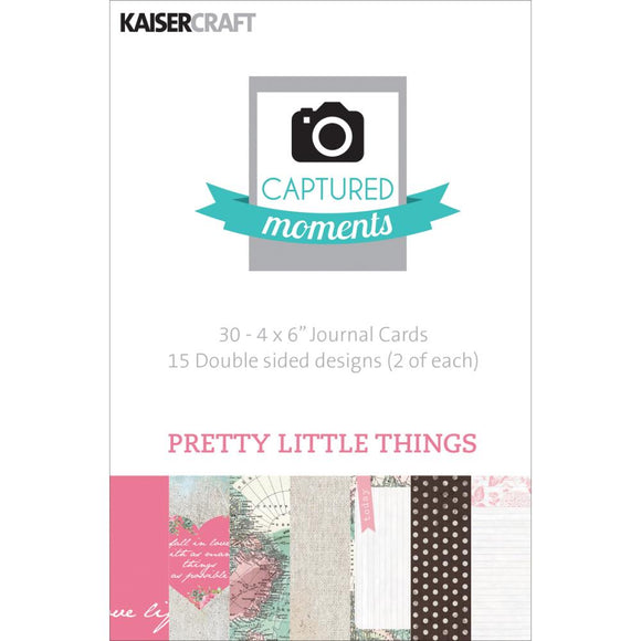 Captured Moments Double-Sided 4x6 Cards (30PKG): Pretty Little Things