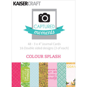 Captured Moments Double-Sided 3x4 Cards (48PKG): Colour Splash