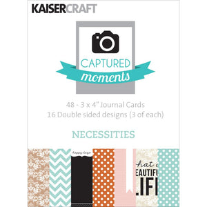 Captured Moments Double-Sided 3x4 Cards (48PKG): Necessities