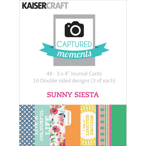 Captured Moments Double-Sided 3x4 Cards (48PKG): Sunny Siesta