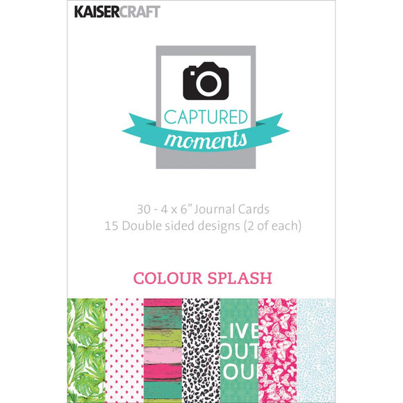 Captured Moments Double-Sided 4x6 Cards (30PKG): Colour Splash