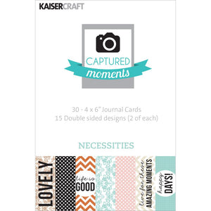 Captured Moments Double-Sided 4x6 Cards (30PKG): Necessities
