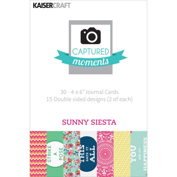 Captured Moments Double-Sided 4x6 Cards (30PKG): Sunny Siesta