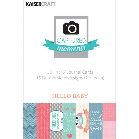 Captured Moments Double-Sided 4x6 Cards (30PKG): Hello Baby
