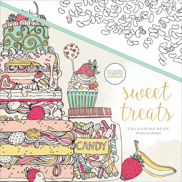 KaiserColour Perfect Bound Coloring Book: Sweet Treats