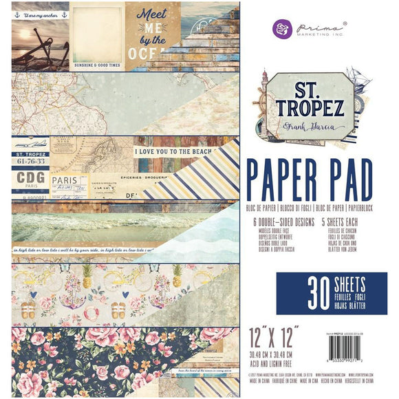 Prima Marketing 12x12 Paper Pad: St. Tropez