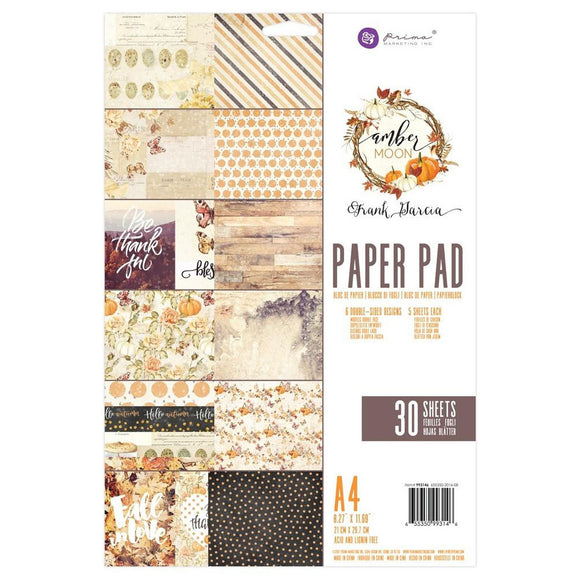 Prima Marketing A4 Paper Pad: Amber Moon