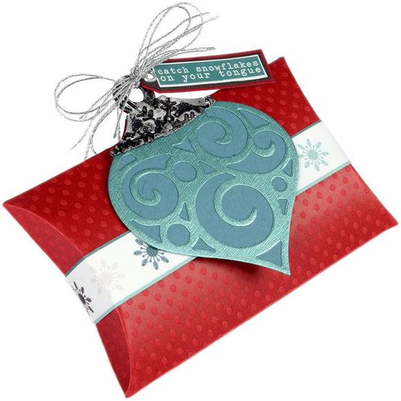 Bigz L Dies: Pillow Box with Ornaments by Lindsey Serata