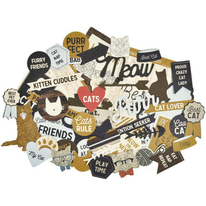 Kaisercraft Collectables Cardstock Die-Cuts: Pawfect Cats