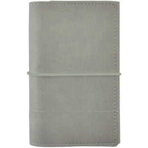 Kaisercraft Trifold Planner 5x7: Gray with Stitched Accent