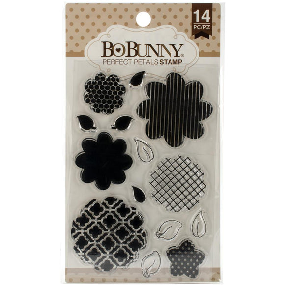 Bo Bunny 4x6 Essential Stamps Set: Perfect Petals