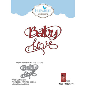 Elizabeth Craft Designs Metal Dies: Baby Love