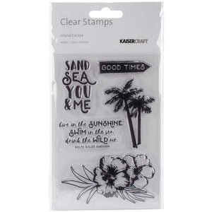 Kaisercraft 4x6 Clear Stamps: Island Escape