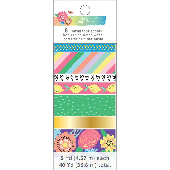Amy Tangerine Washi Tape Rolls: Sunshine and Good Times