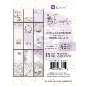 Prima 3x4 Journaling Cards Pad: Lavender Frost